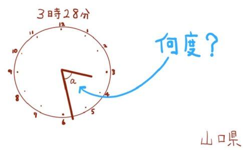 長針と短針の角度を求める問題