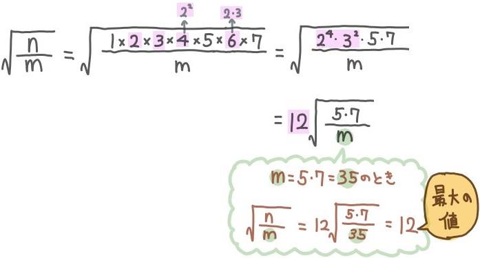 平方根が最大になる問題の解説